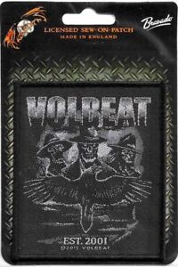 Official-Licensed-Merch-Woven-Sew-on-PATCH-Heavy-Metal-VOLBEAT-Outlaw-Raven