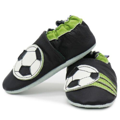 Carozoo Soccer Noir 18-24 M en cuir souple chaussures de bébé