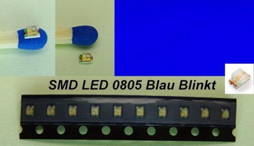 SMD LED 0805 BLU LAMPEGGIO FLASH FLASH LUCE BLU LAMPEGGIANTE numero di pezzi selezionabile