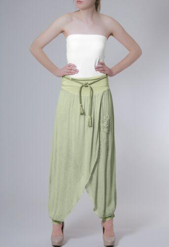Caspar Donna Leggeri Estate Cotone Pantaloni Pantaloni rock applicazione fiocco