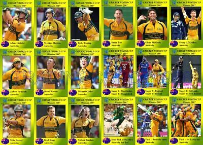 Australia 2007 Cricket World Cup Final Winners Trading Cards Ebay