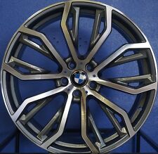 "22"" BMW X5 X6 X5M X6M Rims Staggered Machined 2016 M Style Wheels"