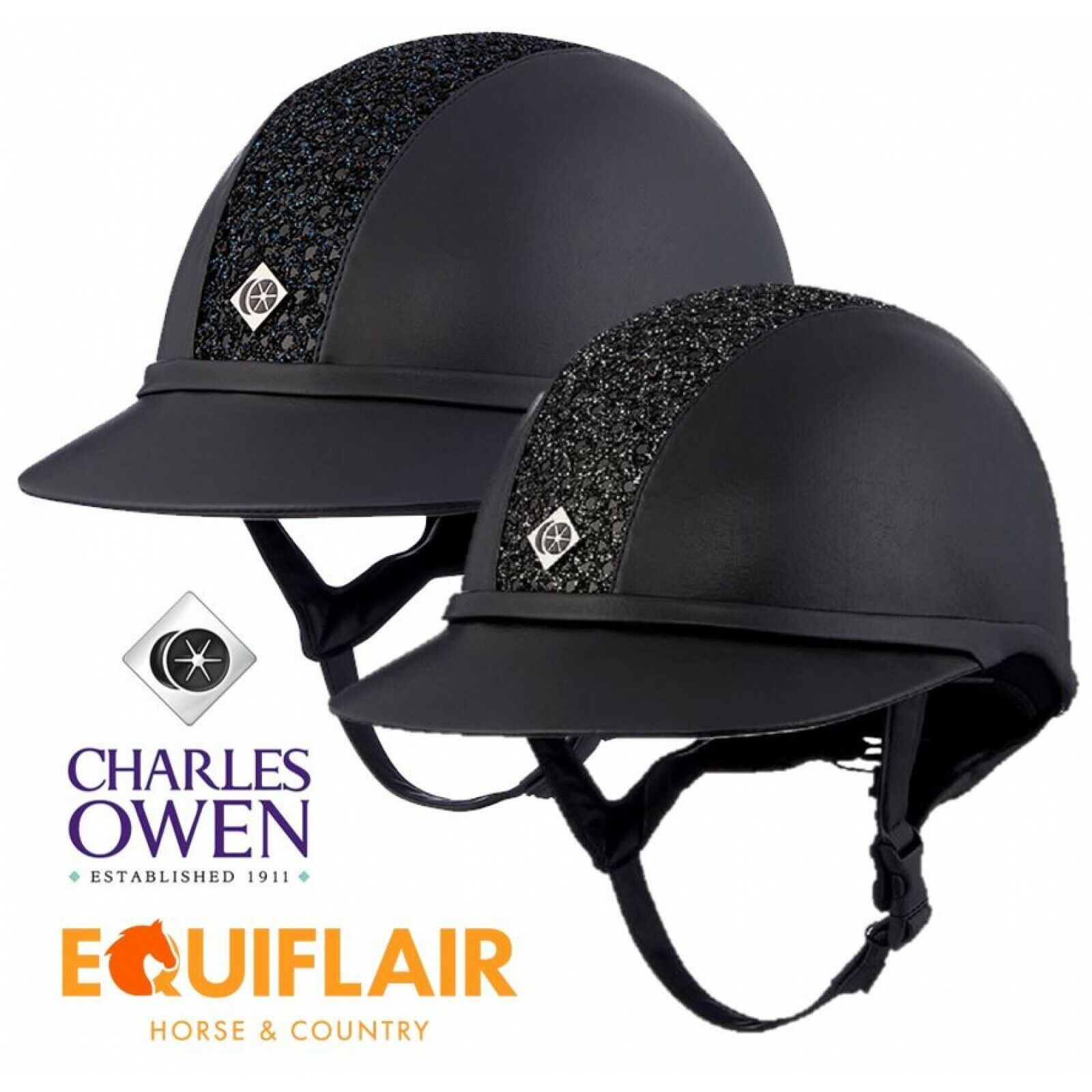 Charles Owen SP8 Sparkly Leather Look Sun  Predection Riding Helmet ASTM F1163 15  latest styles