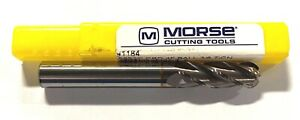 """Morse 3//4/"""" Carbide Ball End Mill Extra Long Length TiCN Coated 4 Flute USA Made"""