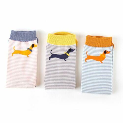 Ladies Socks Dachshund Sausage Dog Novelty Bamboo Cotton Blend 4-7 Superb Quau