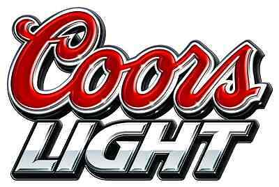 """RACING full color COORS LIGHT Vinyl Sticker Decal 6/"""""""