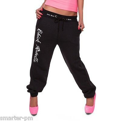 Sexy Jogginghose Fitnesshose Pumphose Hose Fitness WoW S M L Schwarz Blogger