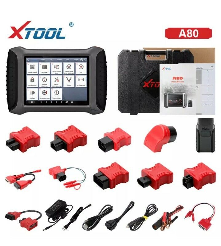 XTOOL A80 H6 OBD2 Key Programming / Odometer adjustment/ BT/WiFi. Full System.