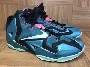 best service 08bf5 1dbdf Image is loading RARE-Nike-LeBron-James-XI-11-South-Beach-