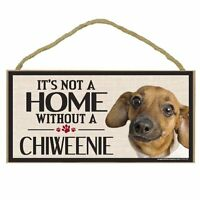 Imagine This Wood Sign For Chiweenie Dog Breeds, New, Free Shipping