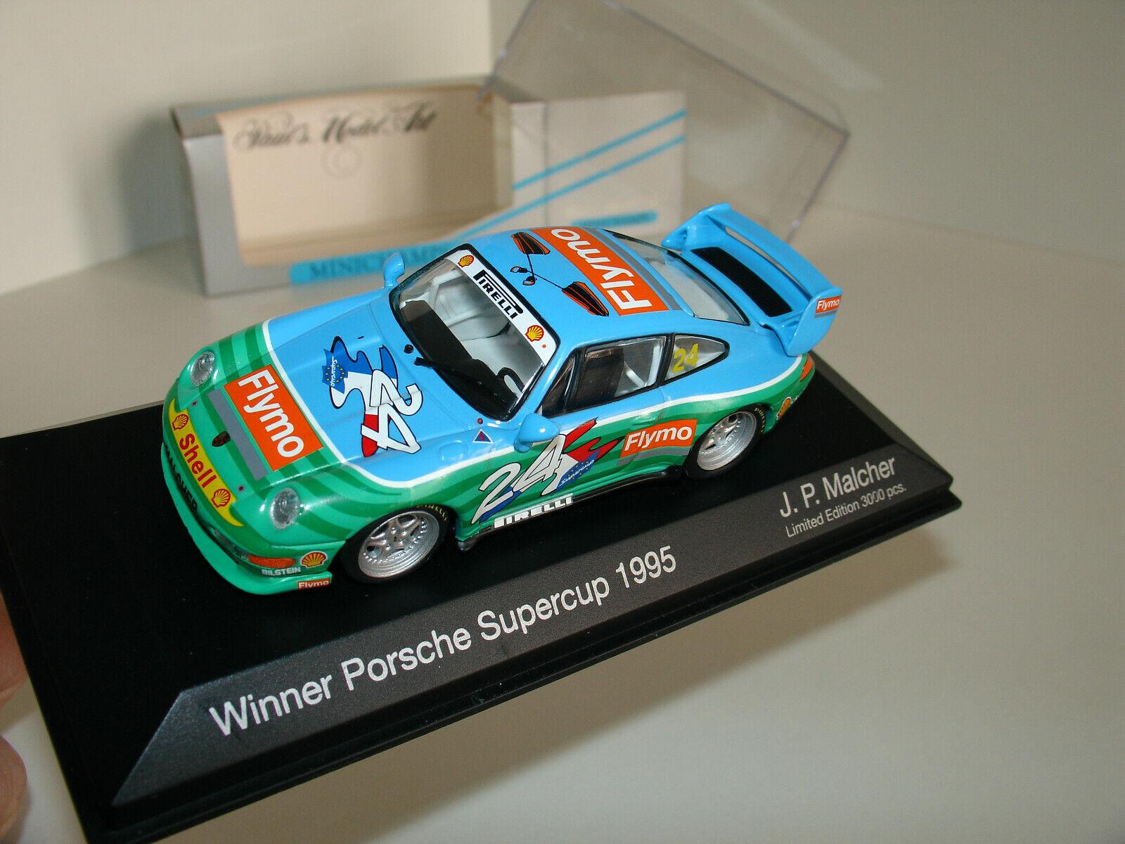 1 43 Porsche 993 RS  24 ganador Porsche descuartizar 1995 J.P. Malcher por Minichamps