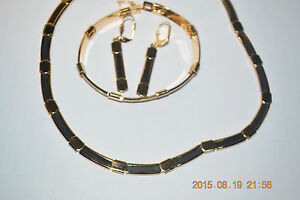 14kt-GOLD-FILLED-Jewelry-Set-from-Israel-Necklace-Bracelet-and-Earrings
