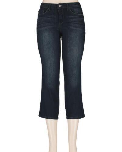 Vintage America 60407722-0GO Darkwater Stretch Denim Benita Crop Flare Jeans $69