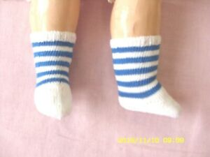 Antique Doll socks for Antique French or German doll,100/% Cotton,Handknitted