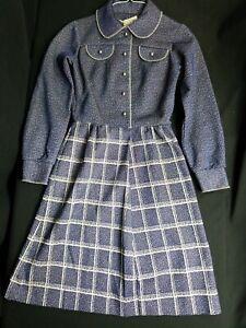 Vintage-Jennifer-Gee-Mod-Dress-Womens-Retro-Hippy-Disco