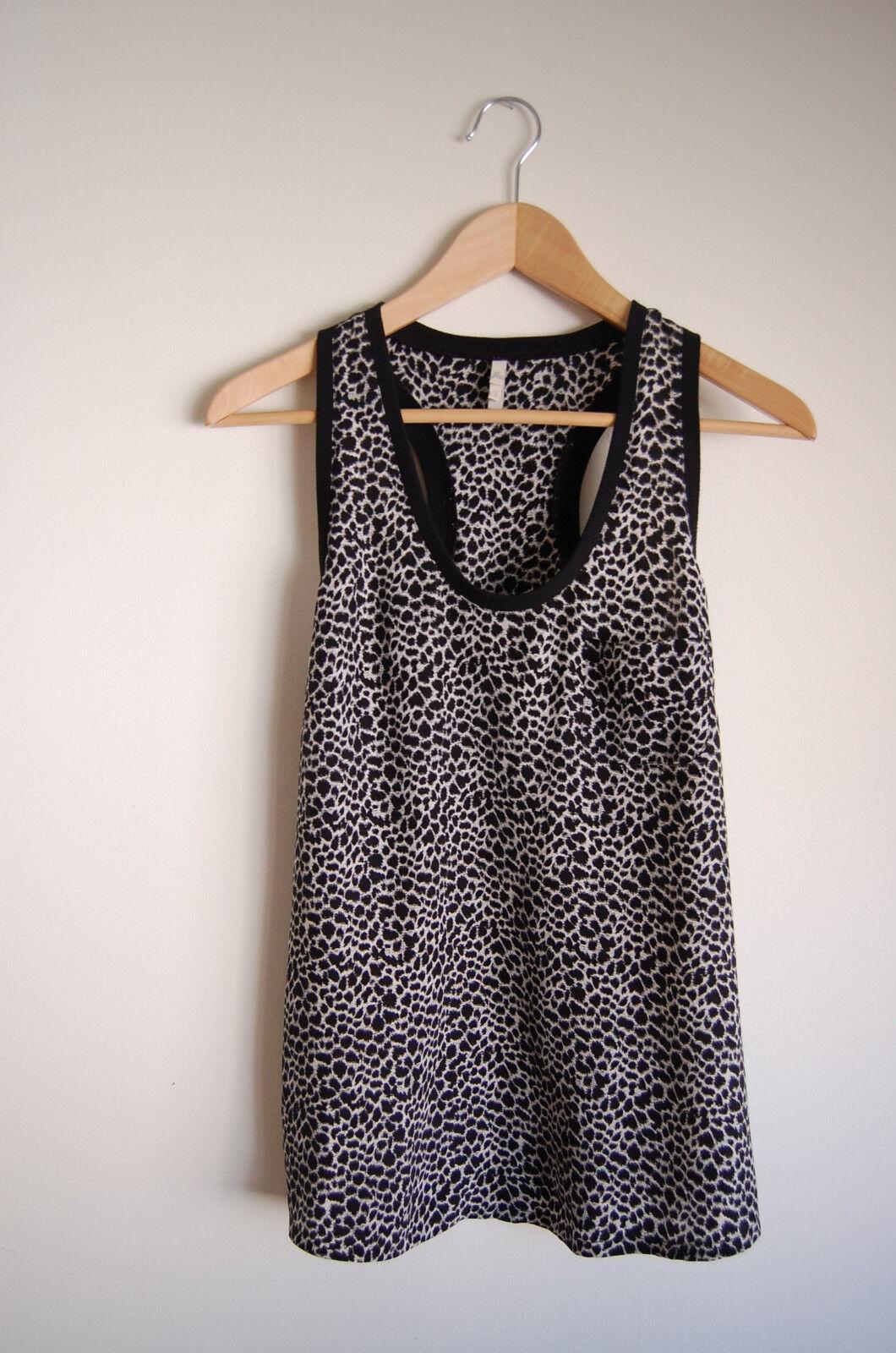 Joie animal print leopard silk tank, small