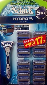 NEW-Schick-Hydro-5-Holder-Blade-17pc-for-Shaver-Japan-Import-Official-F-S