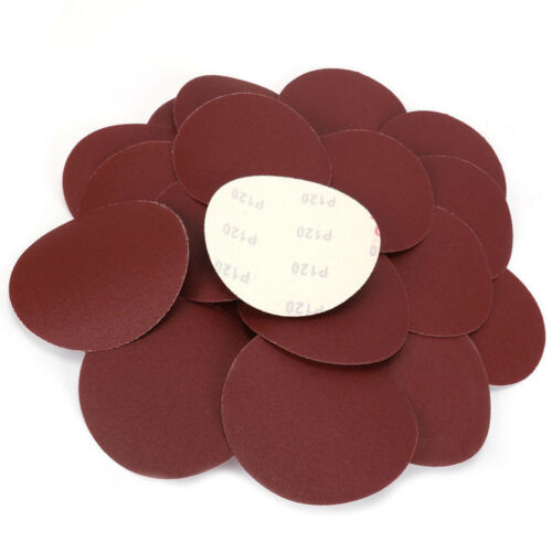 5 Inch Round Sandpaper Buffer Polishing Abrasive Tools 40 ~ 2000 Grit 100Pcs