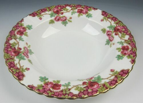 EXCELLENT s Royal Stafford China OLDE ENGLISH GARDEN-RED Rim Soup Bowl