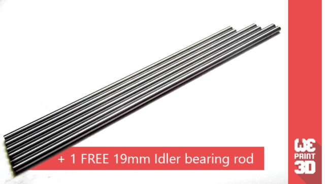 RepRap M8  Stainless Steel Smooth Rods 8mm - for Prusa Mendel i3 and others