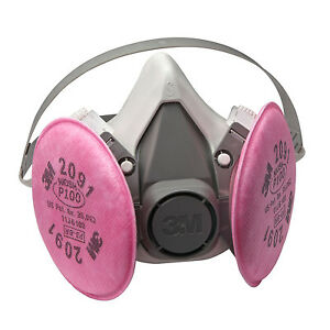 3M 6391 P100 Half Facepiece Reusable Respirator (LG)