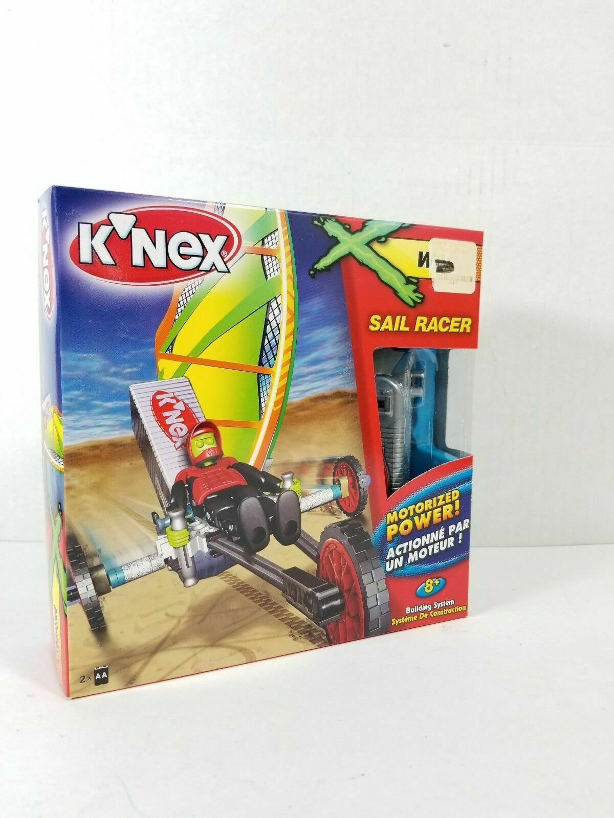 K'Nex Wheels Sail Racer Motorized Power with Driver 103 pieces NEW