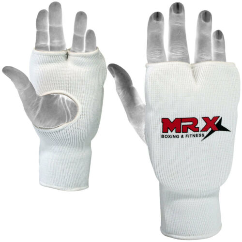 Elasticated Karate Mitts Boxing Training Mitt Fist Punching Glove White S M L XL