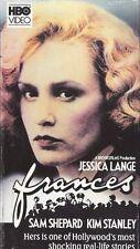 Frances (VHS) HBO Home Video Jessica Lange OOP ORIGINAL
