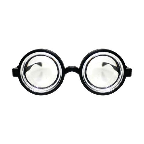 Gli adulti//bambini Nero Rotondo Geek Nerd Costume Occhiali Occhiali World Book Day