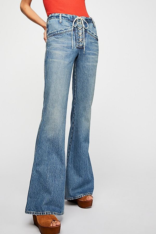 Free People Citizens of Humanity Sally Flare Jeans bluee Oasis New Sz 26 27 28