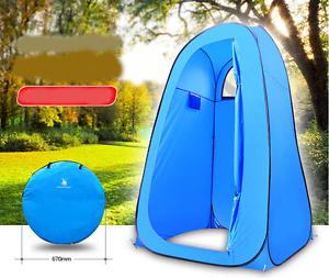 Blauw POP UP Camping Douche Toilet Tent Buitenshuis draagbaar Change Room Shelter