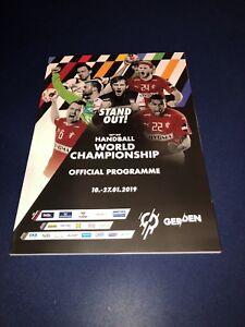 Offizielles Official Programm Programme Handball WM 2019 ...