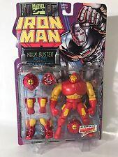 Marvel Iron Man Hulkbuster Figure Power Removable Armor Toybiz 1995 90s New Vtg