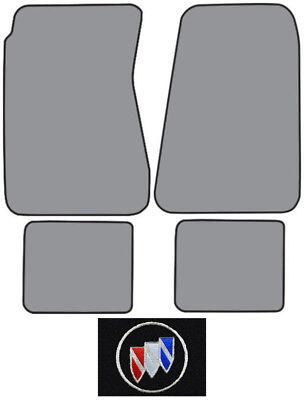 1957-1958 Buick Roadmaster Loop Carpet Logo Floor Mat 4pc