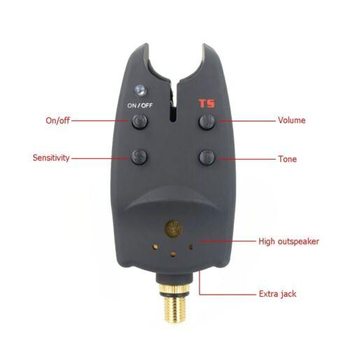 2 x Carp fishing bite alarm for fishing indicator bait alarm carp fishing tackle