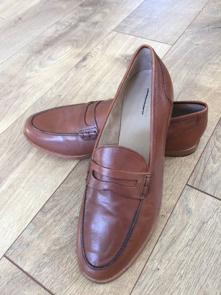 New loafers JCrew $148 Ryan penny loafers New Leather shoes 10 burnished pecan brown H8200 7861e7