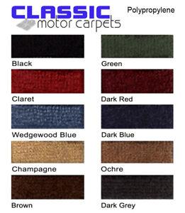 Classic Car Carpet Set échantillons-Deep pieu, Latex soutenu - 14 Couleurs  </span>