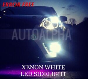 FORD-FIESTA-MK6-02-08-LED-XENON-ICE-WHITE-SIDE-LIGHT-BULBS-CANBUS-ERROR-FREE-ST