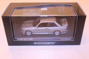 Minichamps-BMW-E30-M3-lachsilber-1-43-1-de-3888-un