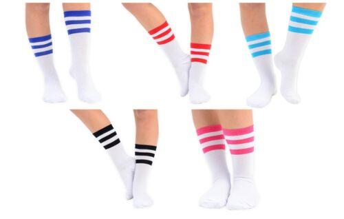 Womens Stripy Ankle Socks Pink Red Black Purple Blue Size UK 4-6.5 Fancy Dress