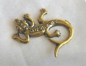 Details about Pendant Lizard 2Tails get money Brass BuddhaTalisman Thai  amulet Lucky Gambling