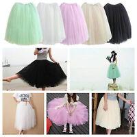 Black 5 Layers Vintage 40's 50's Rockabilly long Tutu Petticoat Ballet Skirt