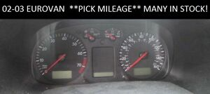 02-03-VW-Eurovan-2-8L-MPH-Instrument-Gauge-Cluster-Speedometer-tach-Pick-miles