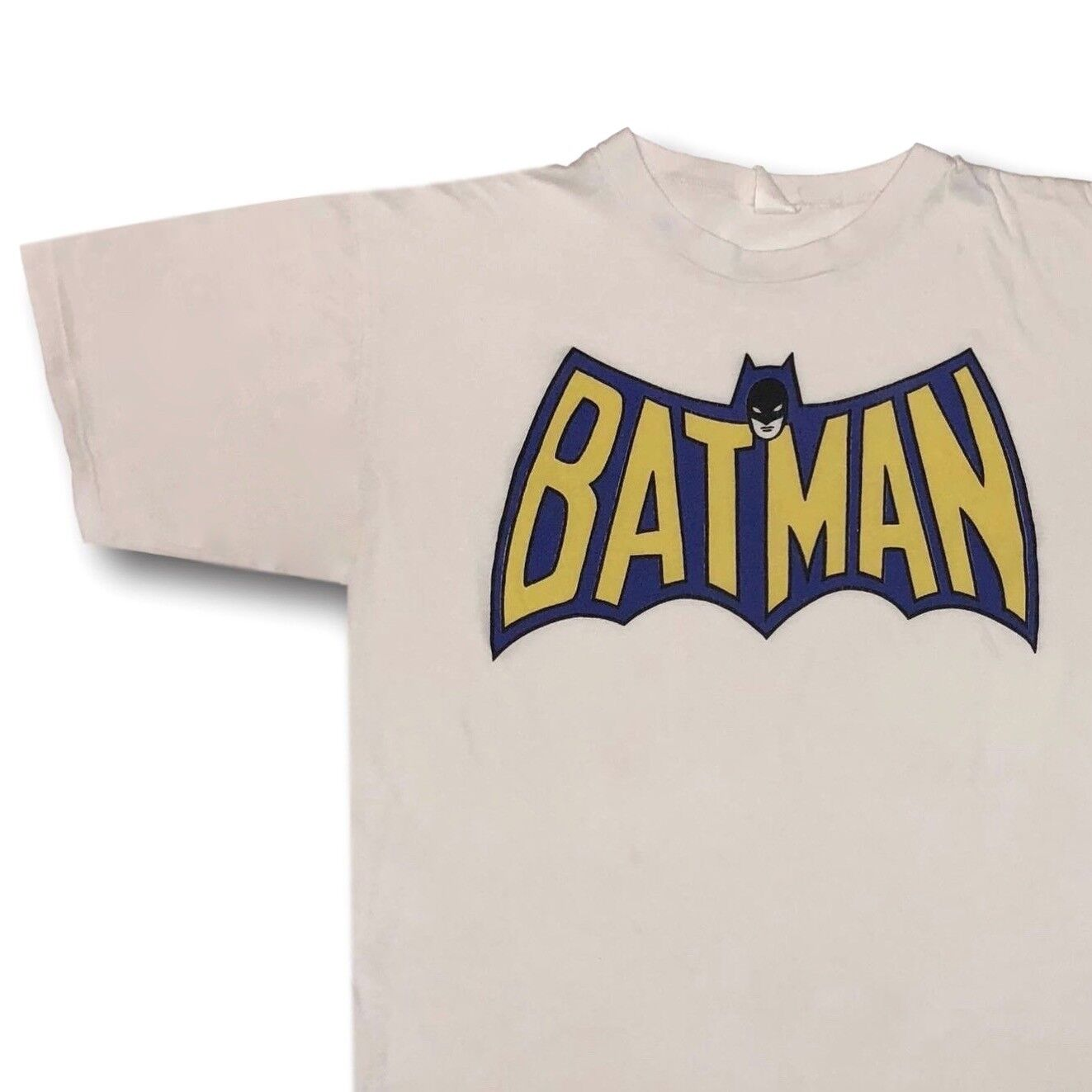 Vintage 70's BATMAN Adventures of Batman 50 50 Graphic Tee T-Shirt Sz L  Robin