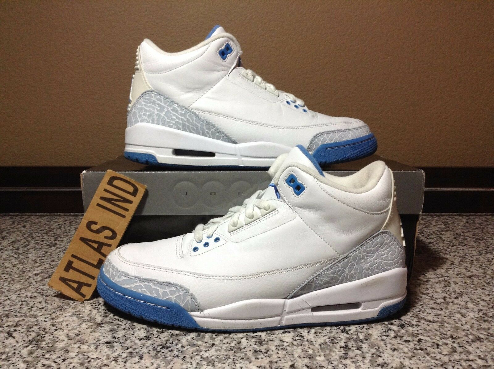 AIR JORDAN 3 RETRO Harbor Blue White Nike III 1 4 5 6 7 8 11 Cement WMNS 2007 10 Cheap and beautiful fashion