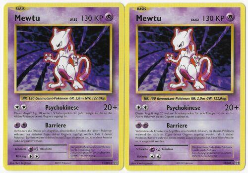 Evolution Mewtu 51//108 Rare Pokemonkarte 2016 2er Set Mint