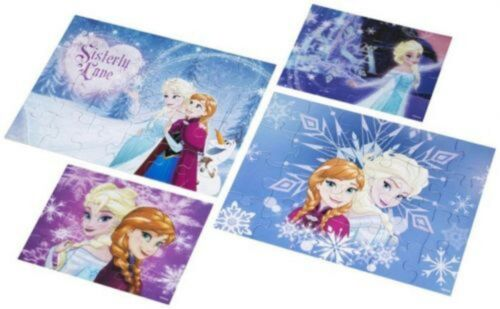 Frozen 4 Pack Lenticulaire Puzzle-lenticulaire woodboard Jigsaw Puzzle Kids Fun To