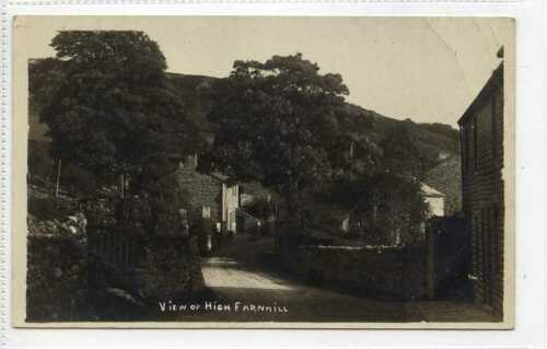 (Gn456-341) Real Photo of HIGH FARNHILL, Keighley, Skipton c1910 Unused G