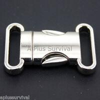 Lot Of 10 Quick Release 3/4 Metal Fashion Buckle Paracord Survival Bracelet