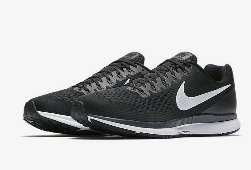 hommes NIKE ZOOM PEGASUS 34noirblanc ATHLETIC RUNNING TRAININGChaussures